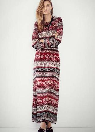 H&m роскошное шифоновое платье в этно стиле