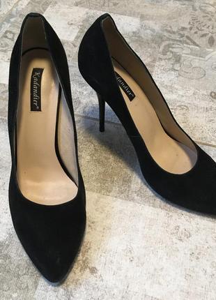 Замшевые лодочки, туфли на шпильке