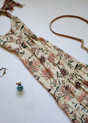 Летнее платье миди сарафан marks & spencer
