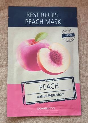Освежающая тканевая маска для лица comelyco с персиком