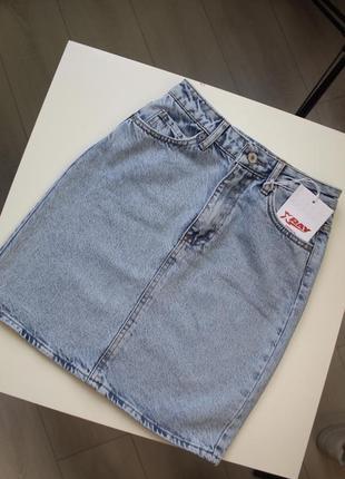 Юбка джинсовая голубая xray