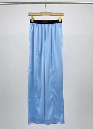 Яркие ультра модные шёлковые штаны брюки