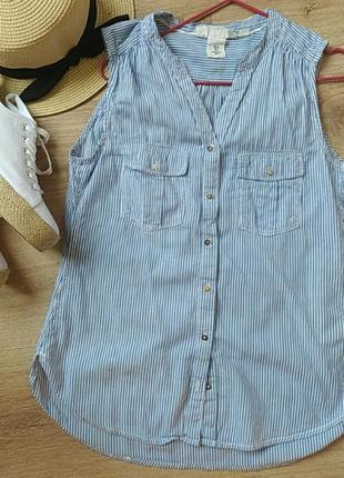 Сорочка без рукавів, рубашка безрукав h&m