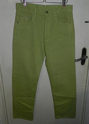 Классные,зауженные,салатовые джинсы-мом,высокая посадка,general company vintag
