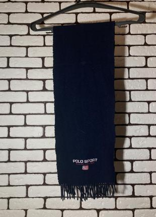 Синий , шерстяной шарф polo ralph lauren sport