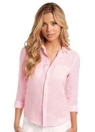 Женская рубашка розовая calvin klein