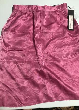 Легкая атласная юбка stefanel с биркой