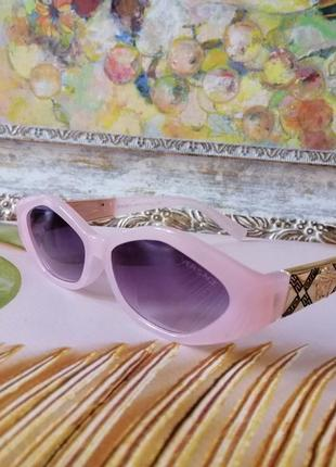 Эксклюзивные брендовые розовые солнцезащитные женские очки шикарные! топ!