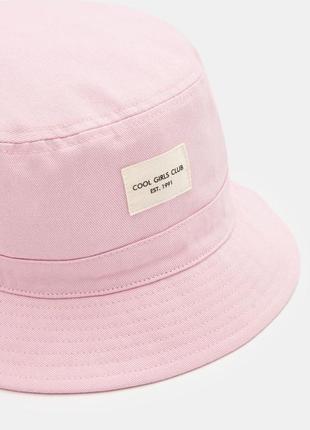 Хлопковая розовая женская панама