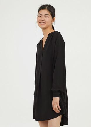 Чёрное платье - рубашка, швеция