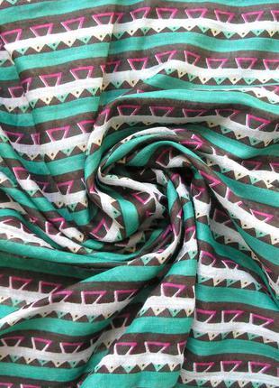 Большой яркий коттоновый шарф палантин, индия, -182х56см - новый