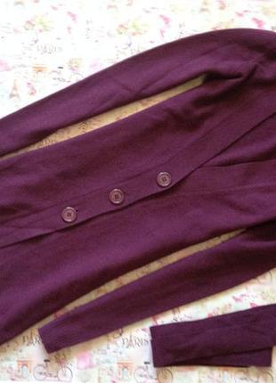 Шерстяная кофта цвета марсала/xs/sisley
