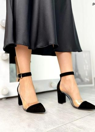 Крутые туфли лодочки со вставками силикона