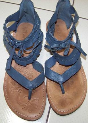 Кожаные мягкие сандалии tamaris 37 р.