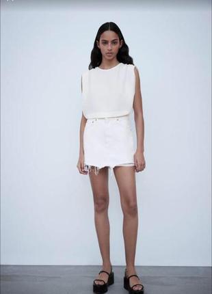 Белая юбка zara новая с биркой