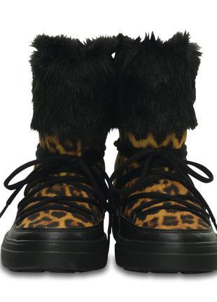 Зимние сапоги crocs lodgepoint lace boot. новые. оригинал. w8