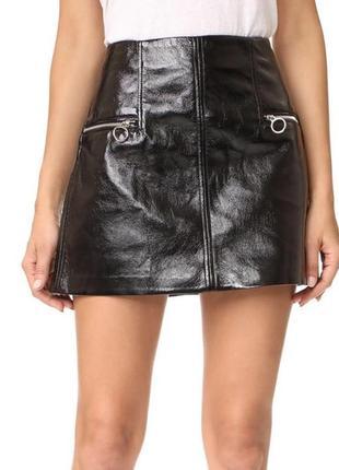 Стильная юбка лакированный кожзам, новая из сша