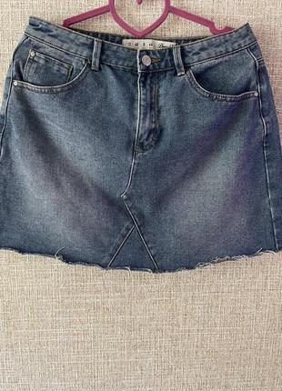 Джинсовая юбка,новая как zara