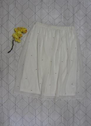 Нежная белоснежная юбка размер 10 м