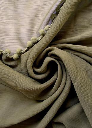 Стильный большой платок шарф, индия, помпончики, -101х106-, новый
