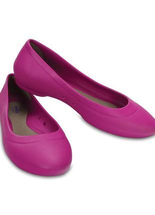 Балетки crocs women's lina  ballet flat. оригинал. новые. w9