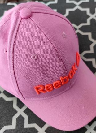 Розовая кепка reebok для девочки