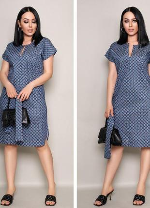 Прелестное стильное платье миди в актуальный принт, расцветки в ассортименте.3 фото