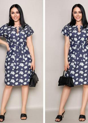 Прелестное стильное платье миди в актуальный принт, расцветки в ассортименте.7 фото