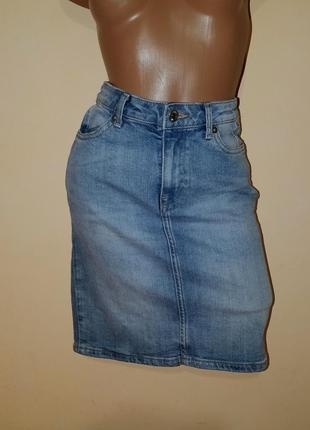 Распродажа !!! женская коттоновая джинсовая юбка  бренд l.o.g.g by h&m