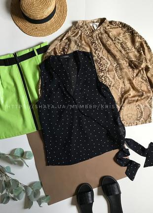 Блуза безрукавка под шифон в горошек р.s