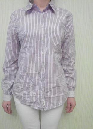 Рубашка сиренево-розовая h&m