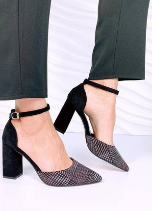 Туфли эко замша