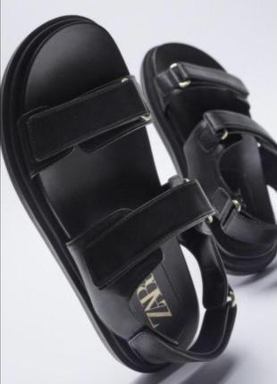 Кожаные босоножки zara зара из натуральной кожи не китай🖤 шкіряні босоніжки zara сандали