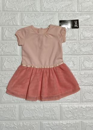 Модное платьице для девочки 3-6 мес.