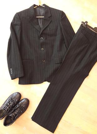 Костюм форма школьная пиджак брюки в полоску