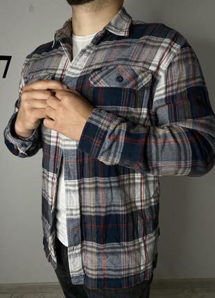Patagonia мужская клечатая рубашка фланельная размер л2 фото