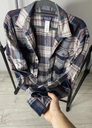 Patagonia мужская клечатая рубашка фланельная размер л5 фото