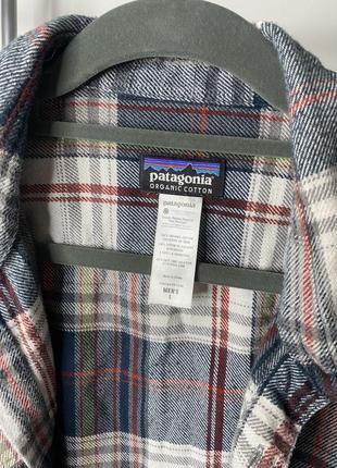Patagonia мужская клечатая рубашка фланельная размер л4 фото