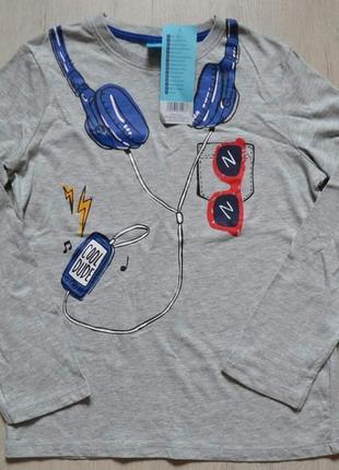 Реглан кофта футболка pepco с принтом наушники