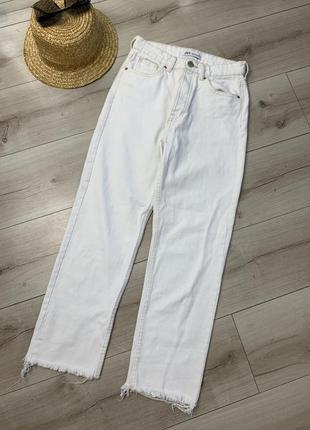 Белые джинсы zara высокая посадка