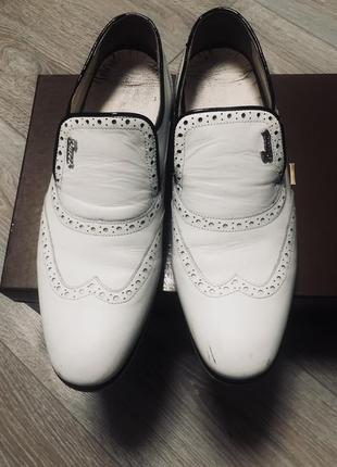 Белые туфли gucci мужские оригинал
