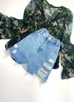 Джинсовая юбка zara