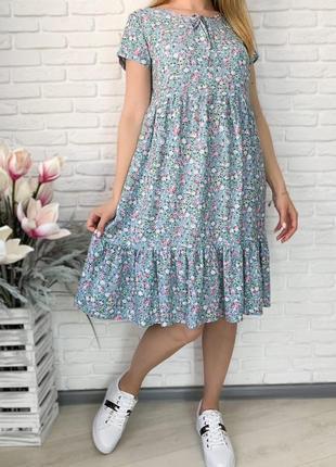 Короткое платье свободного кроя, с карманами. платье с завязкой на горловине. летнее легкое платье в
