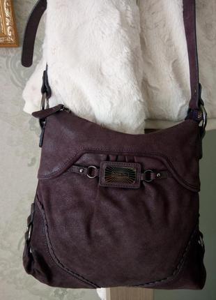 Роскошная сумка из натуральной кожи butterfly