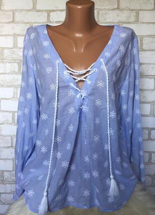 Блузка 💯 хлопок с вышивкой