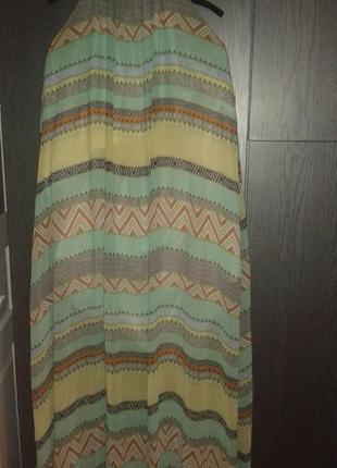 Стильное воздушное платье сарафан flem mode, размер l/xl (до 54 наш)
