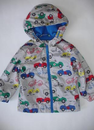 Фирменная f&f легкая куртка ветровка мальчику на годик на флисе2 фото