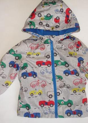 Фирменная f&f легкая куртка ветровка мальчику на годик на флисе3 фото