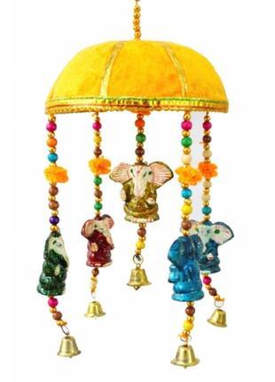 Аксессуар для декора связка 5 акриловых ганешей под куполом