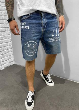 Шорты момы джинсовые мужские с принтом